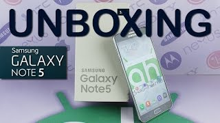 Unboxing Samsung Galaxy Note 5 Español