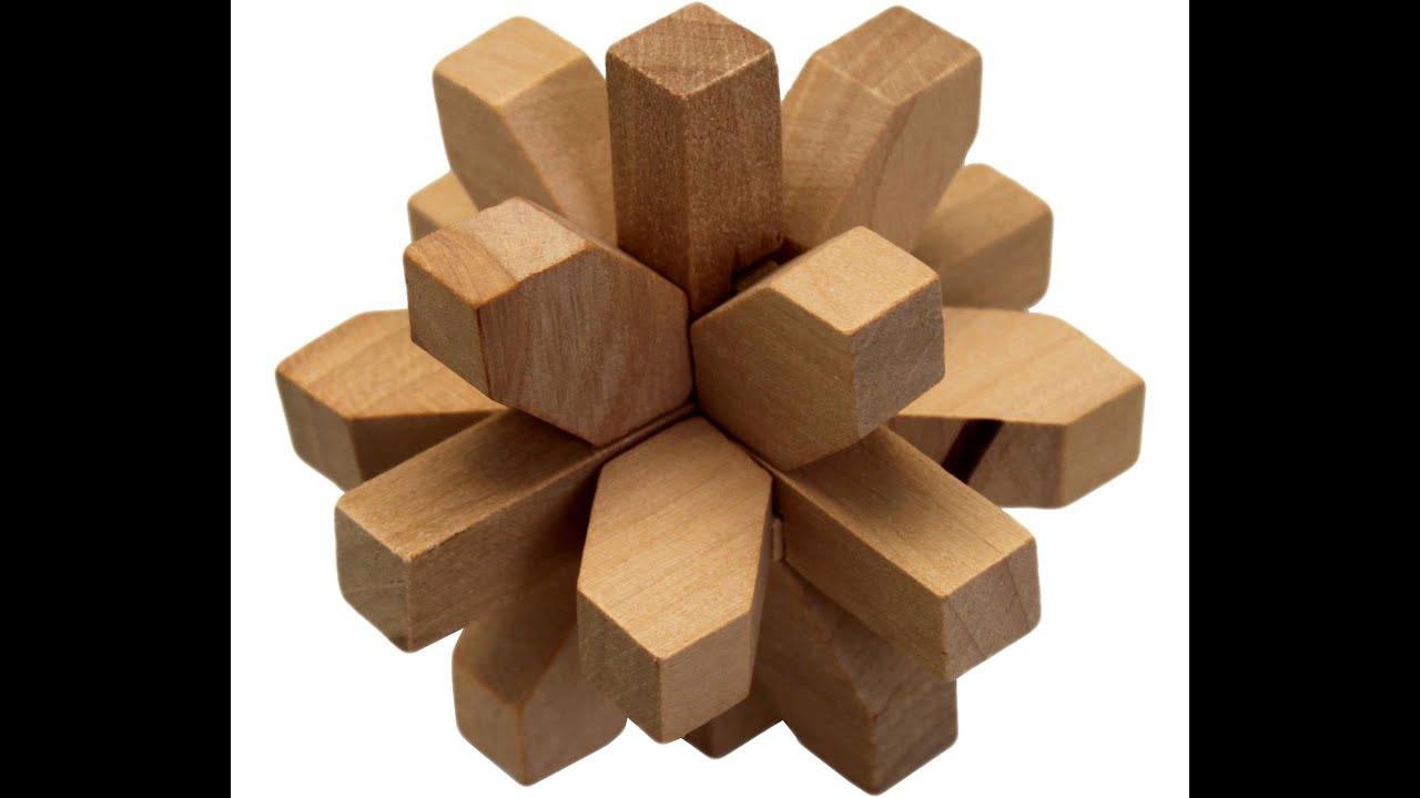 Как собрать головоломку из дерева