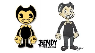 Bendy and the ink machine as Humans