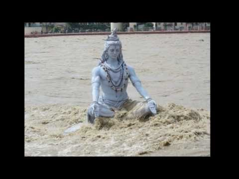 Lord Shiva On The Bank Of  The Ganges In Rishikesh Was Flown Away By Tides River video
