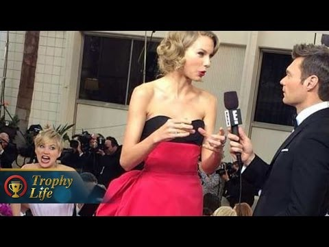 Jennifer Lawrence Photobombs Taylor Swift, Dating Nicholas Hoult Again at Golden Globes 2014!