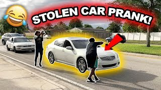 STOLEN CAR PRANK !! **He Called The Cops**