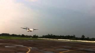 ATR-72 landing at Rajshahi Airport