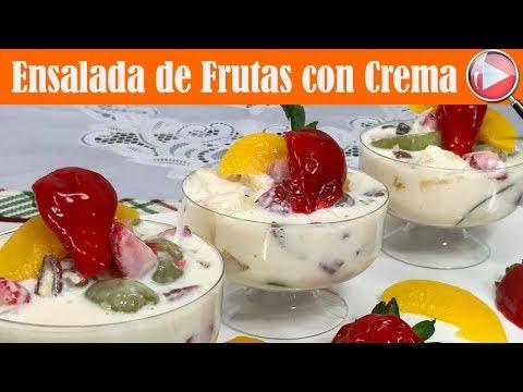 Ensalada de Frutas con Crema - Postre Navideño Facil y Rapido - Recetas en Casayfamiliatv