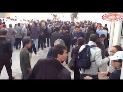 image vid�o  شارع حبيب بورقيبة: قوات الأمن تتصدى للمتظاهرين