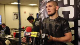 Khabib Nurmagomedov reveals he told Michael Johnson to give up during UFC 205 bout