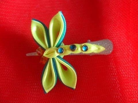 Заколки из цветов канзаши своими руками