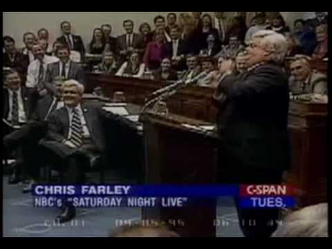 Chris Farley impersonating Newt Gingrich