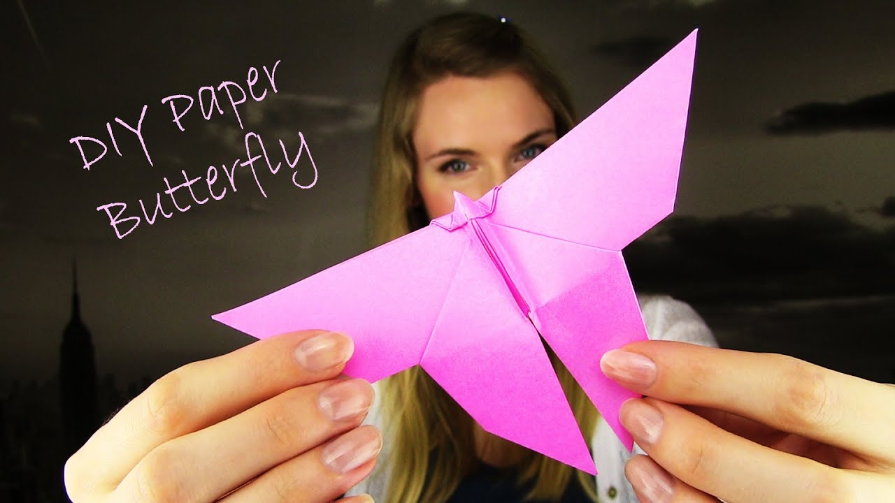 DIY Origami Butterfly Room Decor - YouTube