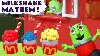 Funny Rascal Funlings McDonalds Drive Thru Milkshake Mayhem with Thomas and Friends Trains TT4U