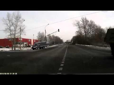 Лобовое столкновение грузовиков