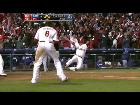 2009 NLCS Gm 4: Rollins' two-run double wins it