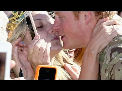 Prince Harry Gets Kiss And Marriage Proposal From Superfan In Australia
