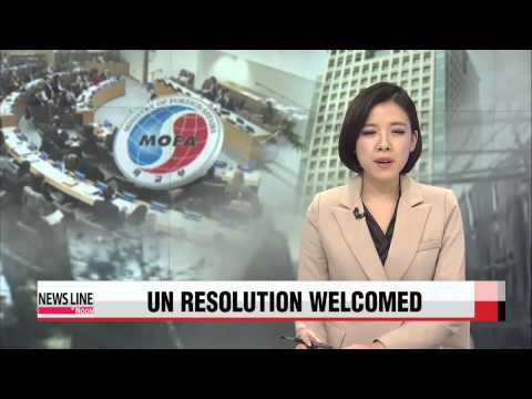 S. Korea welcomes UN resolution on N. Korea′s human rights violations   정부 &quot
