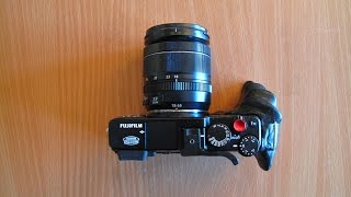 FUJI X E1 DIY Hand Grip Modification tutorial