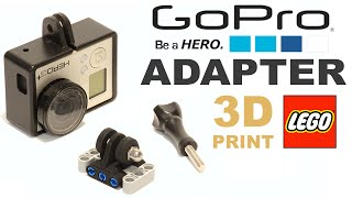 Review LEGO compatible GoPro Adapter-connector / ЛЕГО совместимый GoPro адаптер