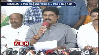 Minister Ganta Srinivasa Rao holds Press Meet over Kapu Reservations