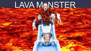 The FLOOR is LAVA Challenge with THE LAVA MONSTER!