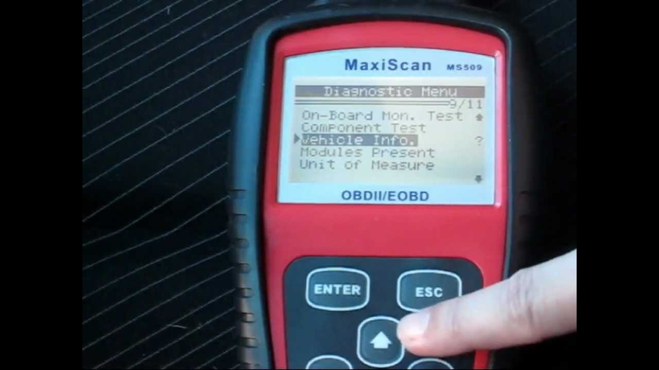 Peugeot 307 Obdii Scan With Maxiscan Ms509 Youtube