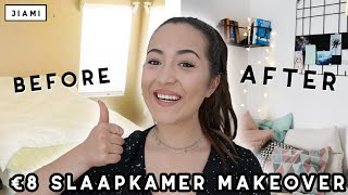 €8 SLAAPKAMER MAKE-OVER CHALLENGE | JIAMI