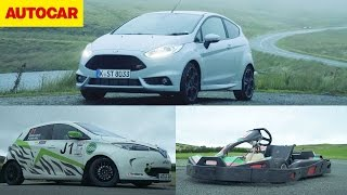 Ford Fiesta ST200 vs eRally Renault Zoe vs Go-kart   Autocar