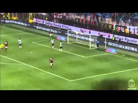 Giampaolo Pazzini Goal AC Milan vs Livorno 3 - 0 19/04/2014