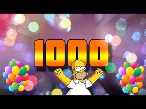 Поздравления к 1000 подписчиков