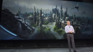 Star Wars Land announced by Bob Iger at D23 Expo 2015 for Disneyland, Walt Disney World