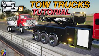 HOW TO USE TOW TRUCKS IN FS19 (Attach Hook & Tow Bar Tutorial) FARMING SIMULATOR 19