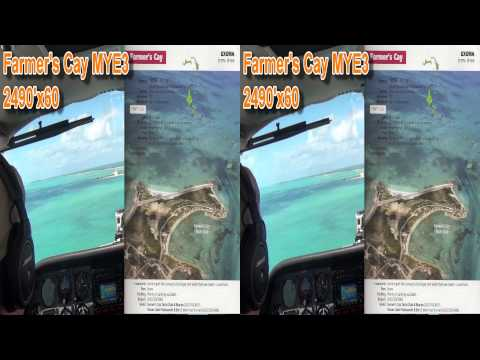 3D - HD1080 Cessna 310 Flying in the Bahamas, landing at Staniel Cay, Farmer's Cay HDR-TD10