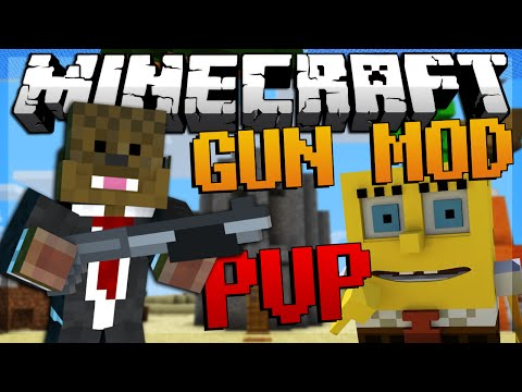Minecraft SPONGEBOB Gun Mod PVP Bikini Bottom Modded Minigame w JeromeASF Friends