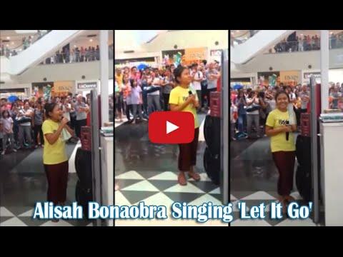 Alisah Bonaobra a Young Filipina Singing