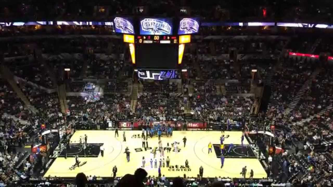 Golden State Warriors San Antonio Spurs April 2 2014 At Amp T Center Section 224 Youtube