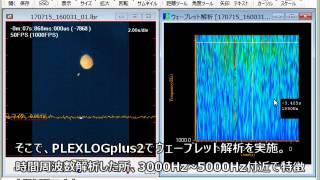 ハイスピードカメラ+Wavelet解析 「線香花火」