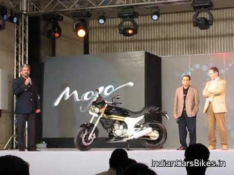 Anand Mahindra with Mahindra 2 Wheelers 300 Mojo Bike