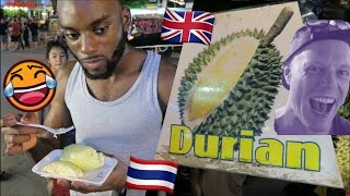 Londoner Tries DURIAN for the First Time!🍈🇹🇭 (World's Stinkiest Fruit) // Chiang Mai Food Travel