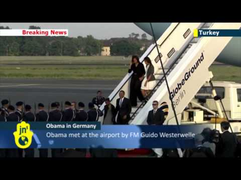 Obama in Germany: US President to hold talks with Chancellor Angela Merkel