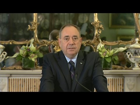 Alex Salmond announces his resignation | Channel 4 News