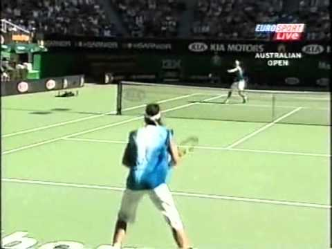 Hewitt vs Nadal 2005 set 2 highlights