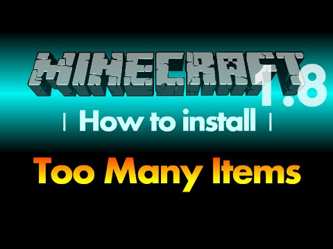 How to install Too Many Items Mod 1.8 (TMI) for Minecraft 1.8 (with download lin