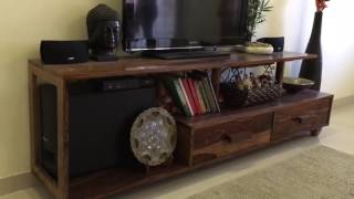 New WODEN TV CABINET / Unit. Sheesham wood furniture online by Rightwood furniture