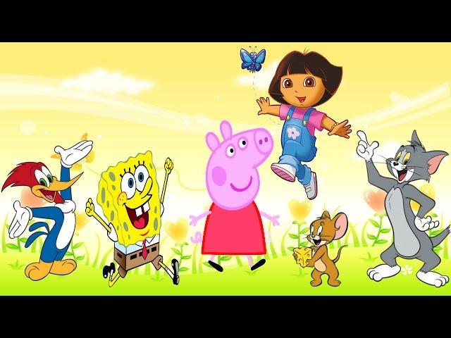 Desenhos Peppa pig em Português Bob esponja Disney Dory Tom e Jerry Pica Pau Dora Aventureira 2016