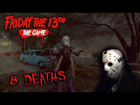 Friday the 13th the game - Gameplay 2.0 - Jason part 2 - 8 Deaths