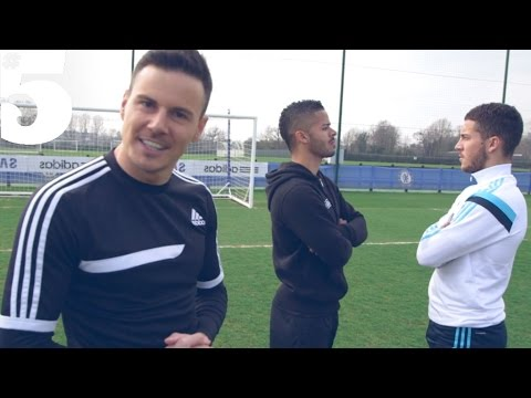 Eden Hazard & The F2 - Skills, Tricks & Perfect Penalties | #5 Players Lounge