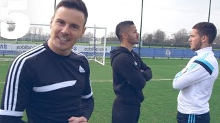 Eden Hazard & The F2 - Skills, Tricks & Perfect Penalties | #5 Players Lounge