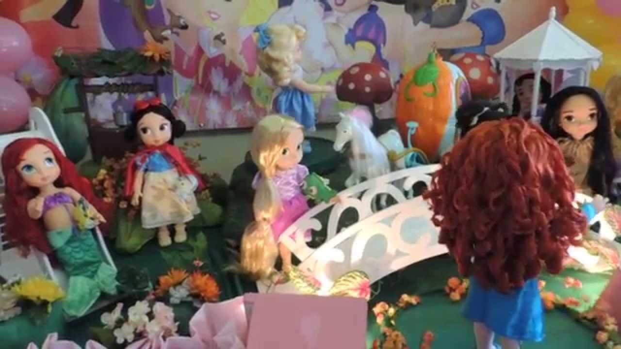 Decoraç u00e3o de Festa As Princesas Baby KiARTE Eventos YouTube -> Decoração De Festa Das Princesas Da Disney