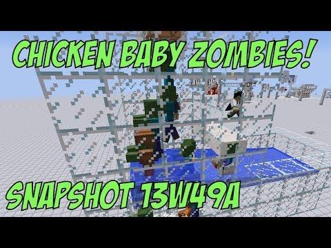 Minecraft 1.7.3: Snapshot 13w49a - Baby Zombie Chicken Jockeys & Render Distance Bug Fixed!