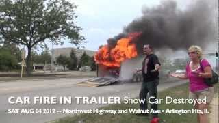 Show Car 1969 Camaro Destroyed by Fire During Transport in Trailer on Route 14, Arlington Heights