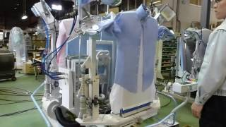 Automatic Shirt Ironing Machine For Laundry And Garments Factory 150pcs/Hour