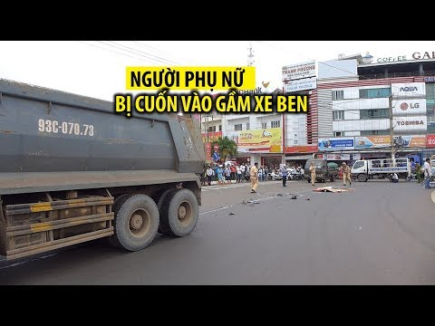Chết thảm ở ngã tư Đồng Xoài vì tai nạn với xe ben   báo thanh niên